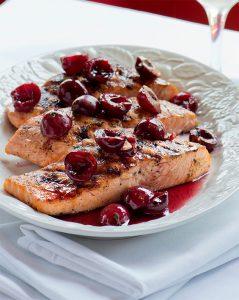 Duke's Wild Alaska Salmon With Cherries