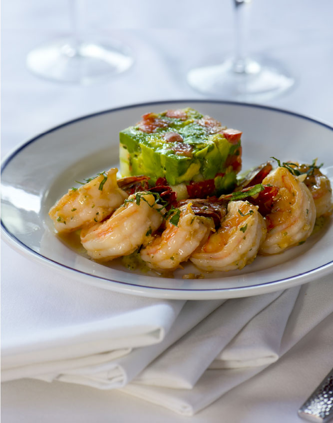 Duke's Seafood Prawns Del Cabo Wabo