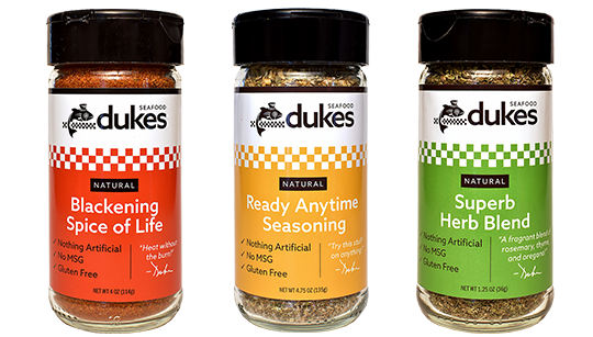All Three Duke's Spice Blends